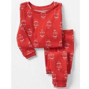 GAP Baby Red Gingerbread Christmas Pajama PJ Set